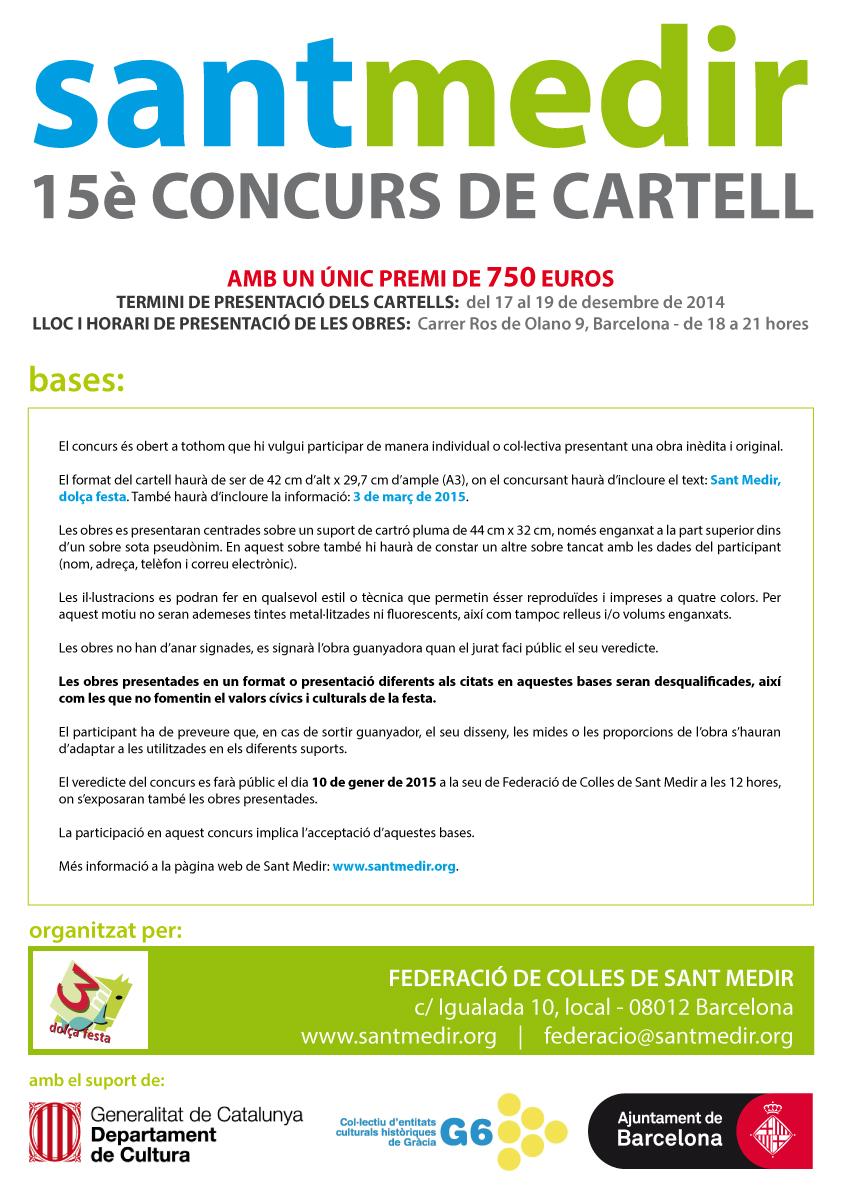 Concurso de cartel Sant Medir 2015
