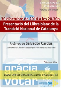 Presentació Llibre Blanc de la Transició Nacional Catalana @ Orfeó Gracienc | Barcelona | Cataluña | España